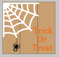 Trick or treat with spider web 14x14