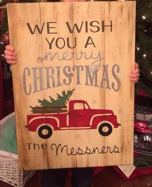 We wish you a Merry Christmas-Truck 14x20