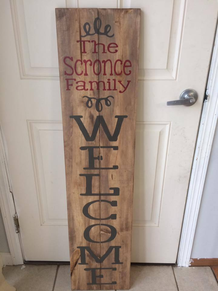 Family name Welcome Curly design 4ft