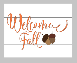 welcome fall with acorns 14x17