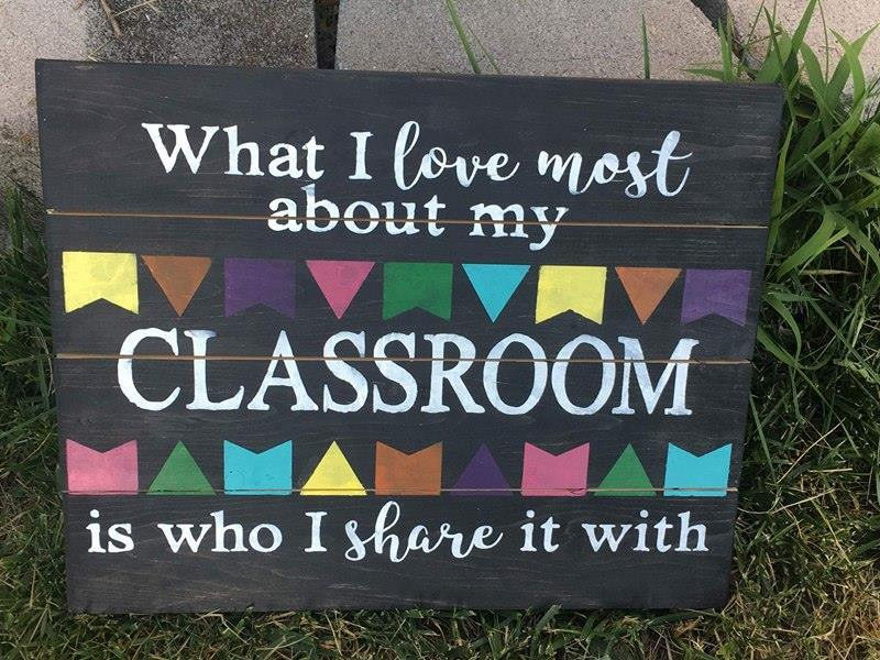 What i love most about my classroom 14X17