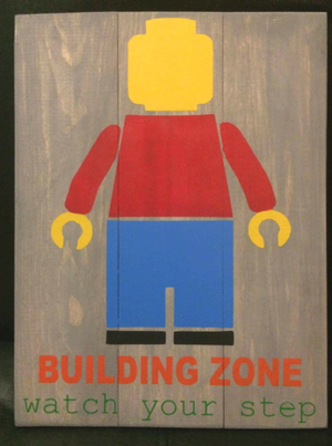 Building zone watch your step 10.5x14