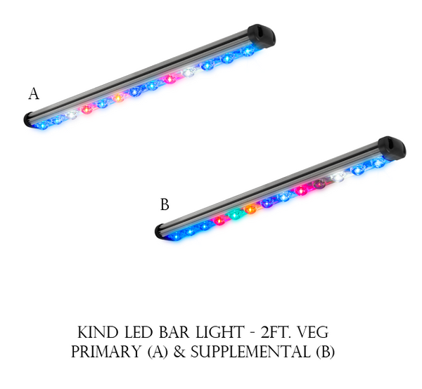 LED Head Grow Lights Official KindLED Image - Kind LED - Veg 2' Bar Light -  34/28 Watts (SKU: kindbl2v) - Bar - 1