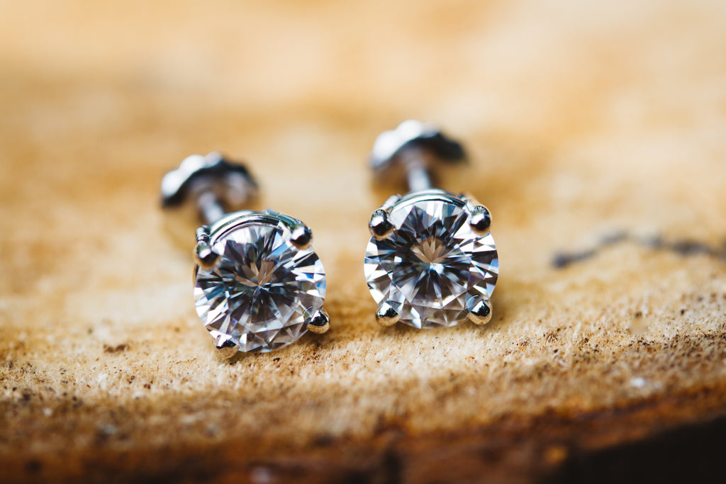 Moissanite Stud Earrings 1 CTTW