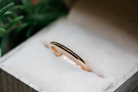 Thin Rose Gold Knife Edge Band