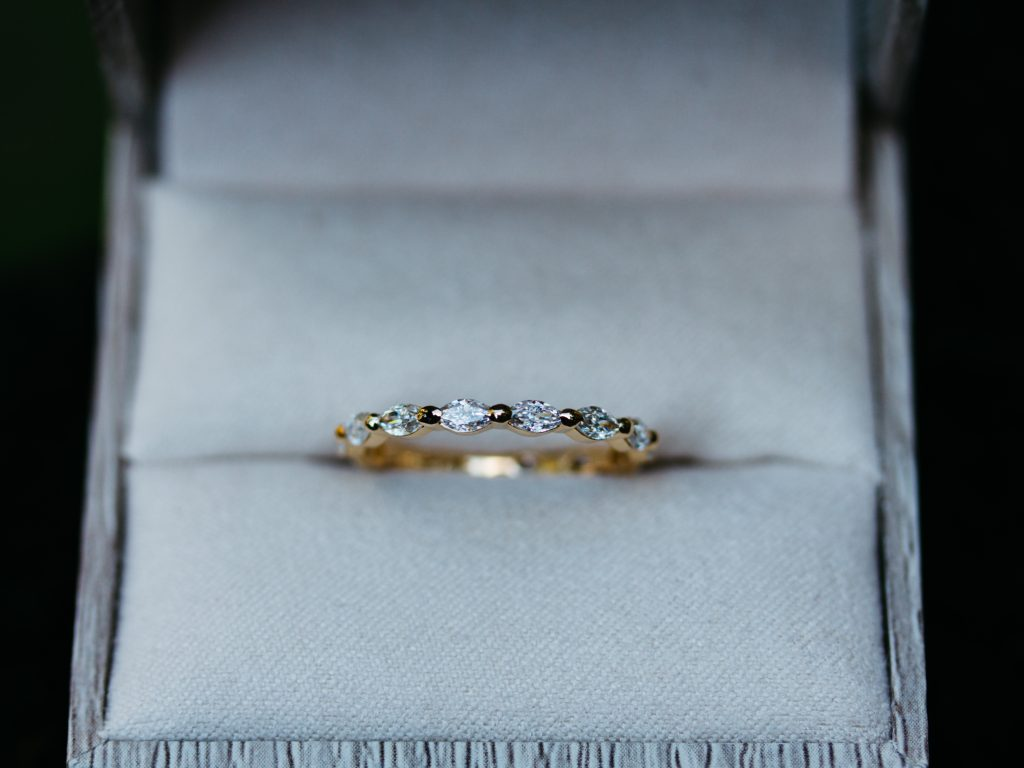 3/4 Eternity Marquise Moissanite Ring