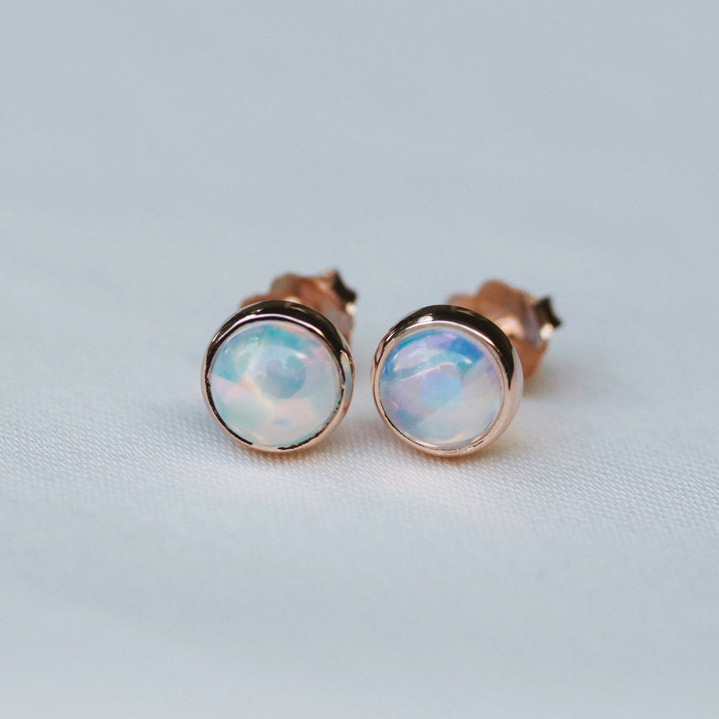 Minimalist Opal Earrings