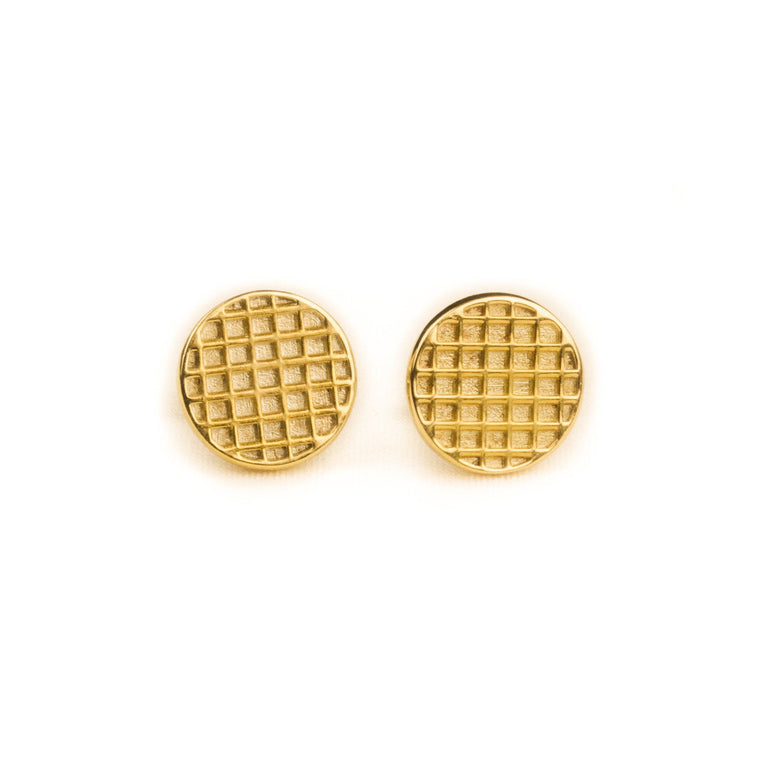 Waffle Earrings