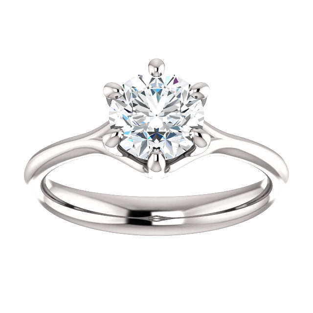 6 Prong Tapered Solitaire