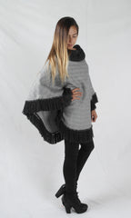 Cable knit Poncho made in Peru