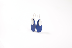Drop Earrings in blue & silver