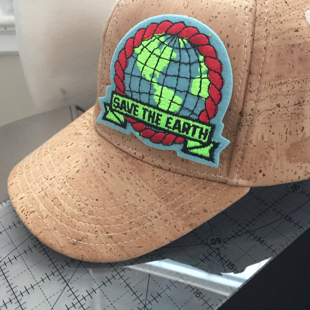 Cork Trucker Hat- With Patch
