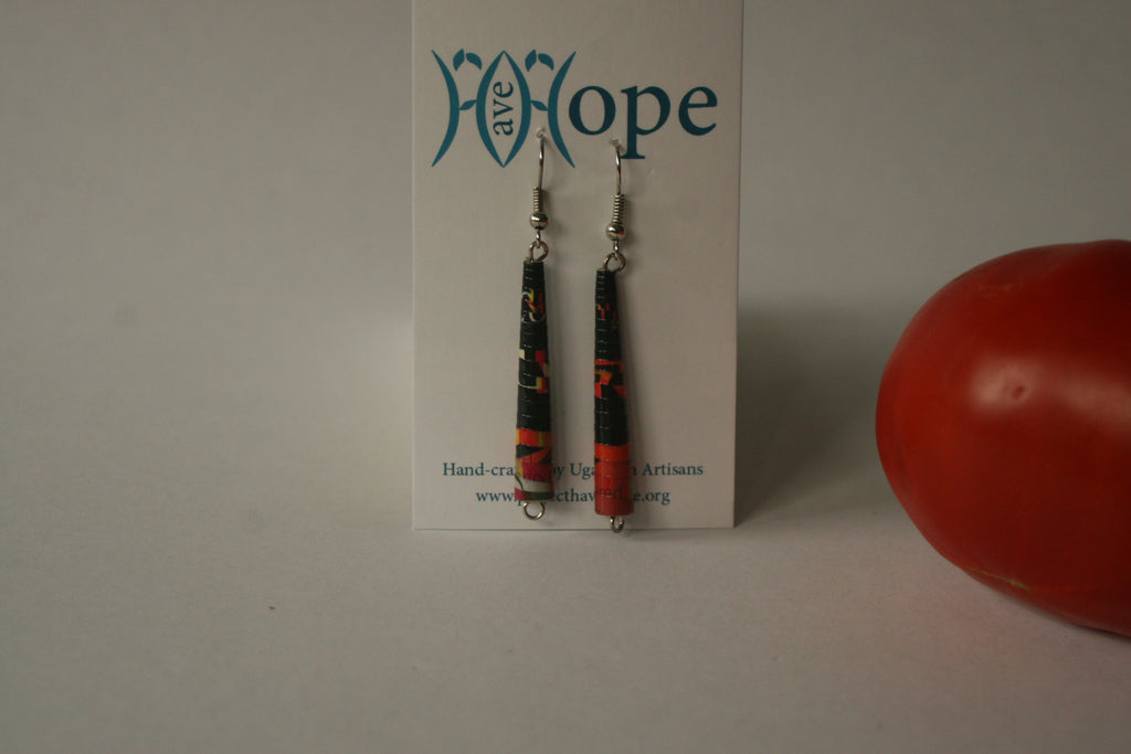 Paper Cone Shaped Earrings