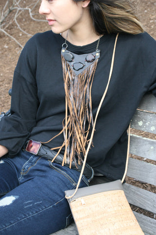 Dramatic Fringe Necklace 21