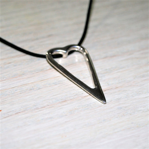 Heart Shaped Pendant in Sterling Silver