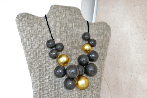 Contemporary and Bold Adjustable Zsiska Necklace