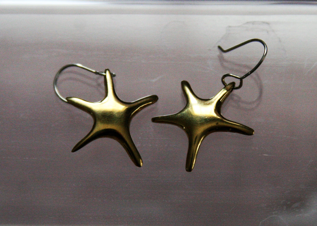 Star Shaped Brass Dangles