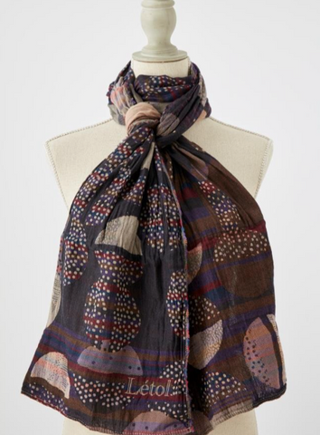 Into the Night Organic Cotton Scarf