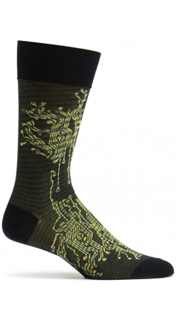 Electric Circuit Break Socks by Ozone Designs