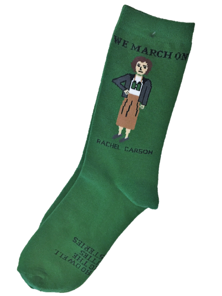 We March On Rachel Carson Ankle Socks