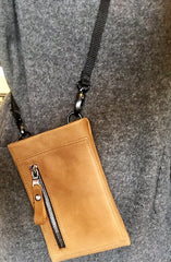 Cell Phone Sling - Upcycled Leather