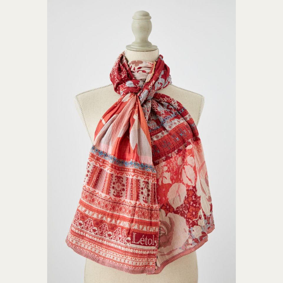 Parisian Styled Design Organic Cotton Scarf