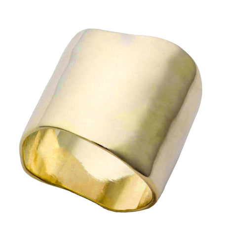 Wide Onde Brass Ring