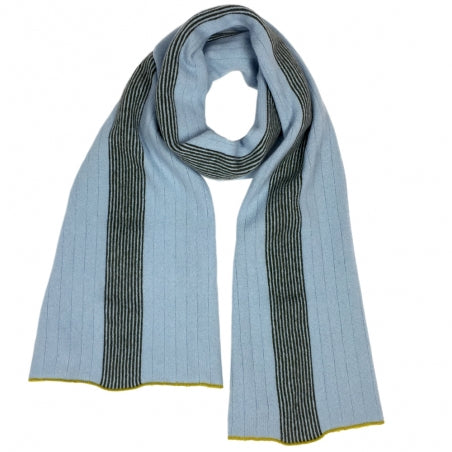 Scarf with Contrast Coloured Trim