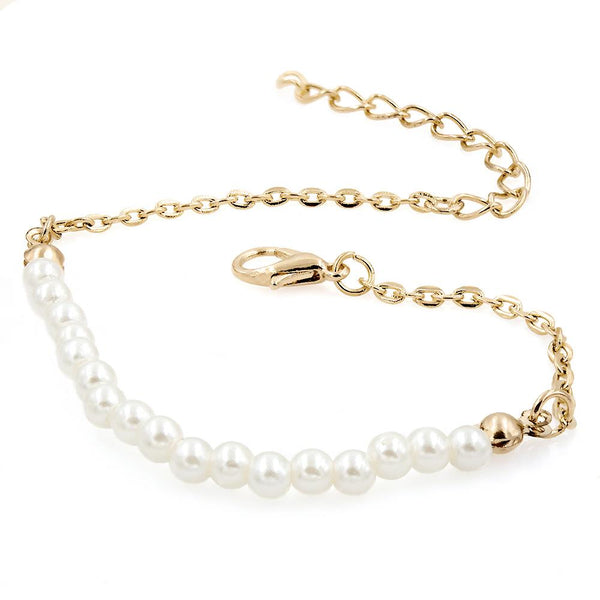 Simple Pearl Bracelet - Gold