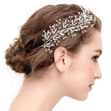 Cubic Zirconia Beaded Bridal Hair Vine