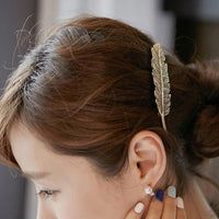 Leaf Barrette Hair Clip - Mini Trinkets