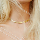 Gold / Silver Snake Chain Choker Necklace