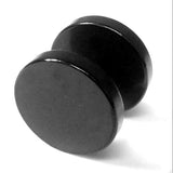 Dumbbell Fake Stretcher Stud Earring