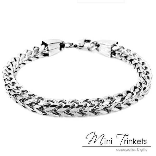 316L Surgical Stainless Steel Boxed Style Curb Bracelet