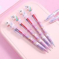 6 in 1 Retractable Unicorn Multicolored Ballpoint Pen