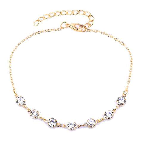 Solitaire Cubic Zirconia Anklet