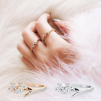 Marquise Cubic Zirconia Leaf Ring - Mini Trinkets