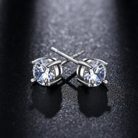 925 Sterling Silver Solitaire Stud Earrings - Mini Trinkets