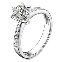 925 Sterling Silver Cubic Zirconia Solitaire Ring - Mini Trinkets