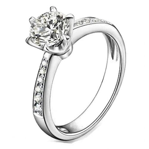 925 Sterling Silver Cubic Zirconia Solitaire Ring