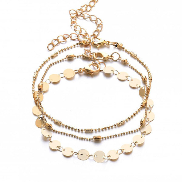 Multi-layered 3 in 1 Anklet