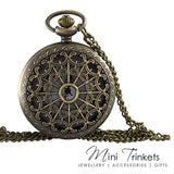 Antique Gold Filigree Pocket Watch Necklace