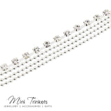 Multi-Layered Square Cubic Zirconia Anklet