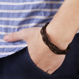 Stainless Steel Layered Braided Bracelet
