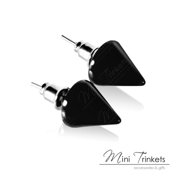 Acrylic Cone Spikes Stud Earrings - Mini Trinkets