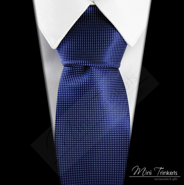 Dotted Pattern Tie - Blue