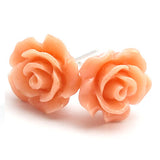 Gloss Rose Stud Earrings