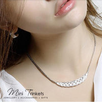 18K White Gold Plated Tennis Necklace - Mini Trinkets