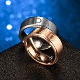 8mm Stainless Steel Engraved Dad Ring