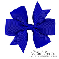 2x Pinwheel Ribbon Bow Hair Clip - Mini Trinkets